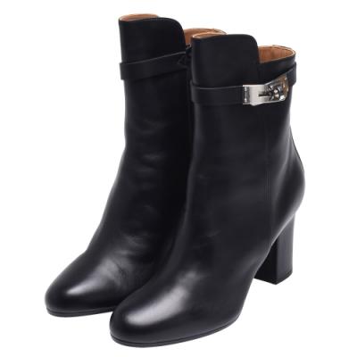 HERMES 經典Saint Germain小牛皮踝靴(黑)