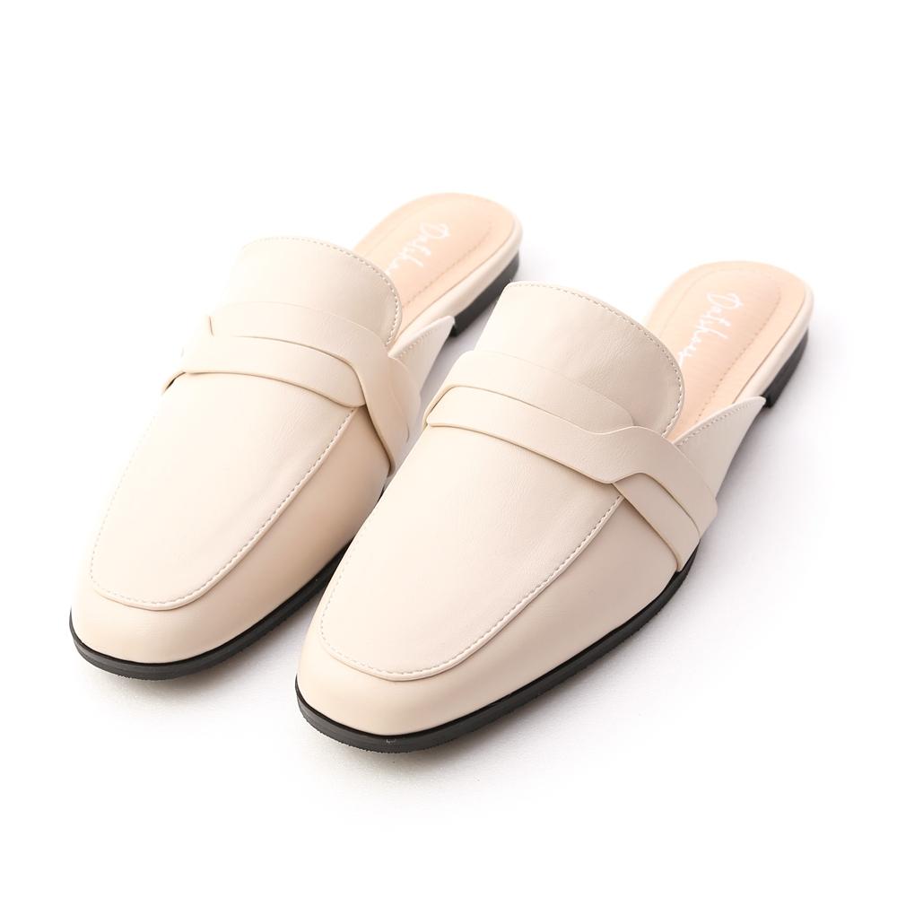D+AF 幾何變化.特殊剪裁平底穆勒鞋*米