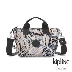 Kipling 夏日棕櫚印花簡約手提肩背托特包-KALA MINI