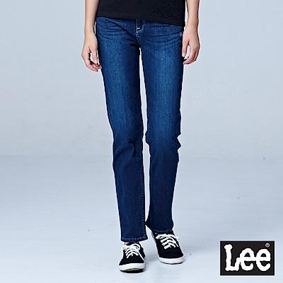Lee 415高腰合身直筒牛仔褲-深藍