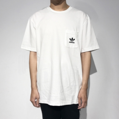 ADIDAS SSL TEE POCKET 男 短袖上衣 白
