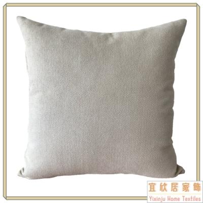 【宜欣居傢飾】米蘭時尚-沙發絨布抱枕50*50cm -米 (枕套含枕芯2入) 台灣製