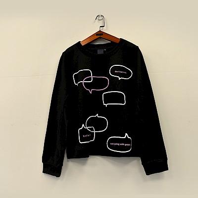 gozo Talk talk趣味對話框造型上衣(二色)