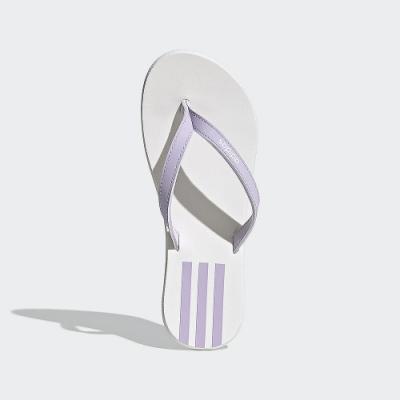ADIDAS 休閒 運動 游泳 人字拖 涼拖鞋 女鞋 白紫 EG2037 EEZAY