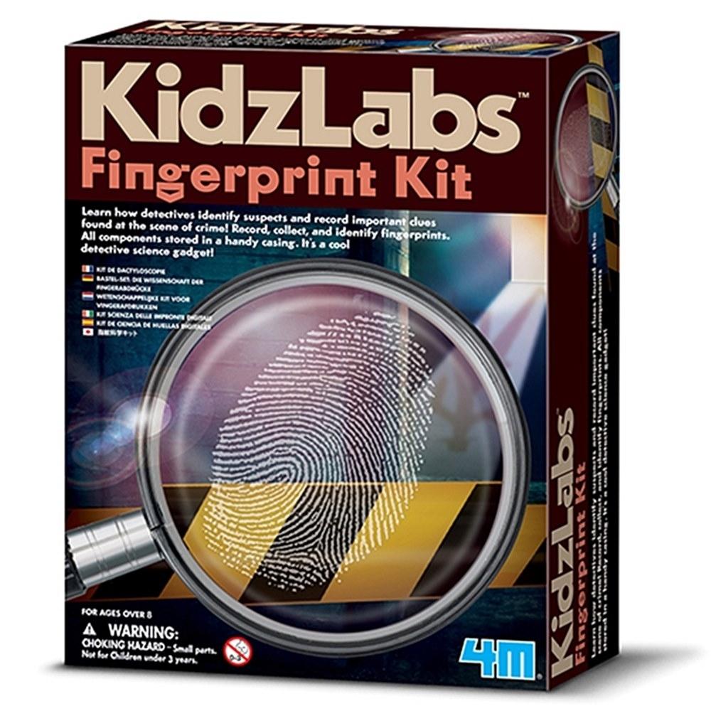 4M科學-小小偵探採集指紋密碼戰00-03248教具Kit組Detective Science-Fingerprint警察在犯罪現場收集手指紋找兇手