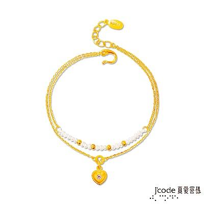 J'code真愛密碼 珍愛你黃金/水晶/天然珍珠手鍊-雙鍊款