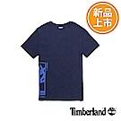 Timberland 男款深藍色LOGO長版短袖T恤