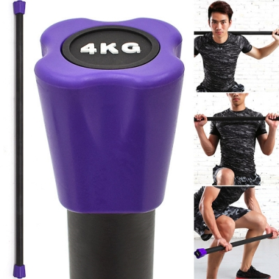 BODY BAR有氧健身4KG體操棒 (長桿120CM跳操平衡棒/重量棒形體棒韻律棒/塑形棍塑身棍4公斤負重量訓練)
