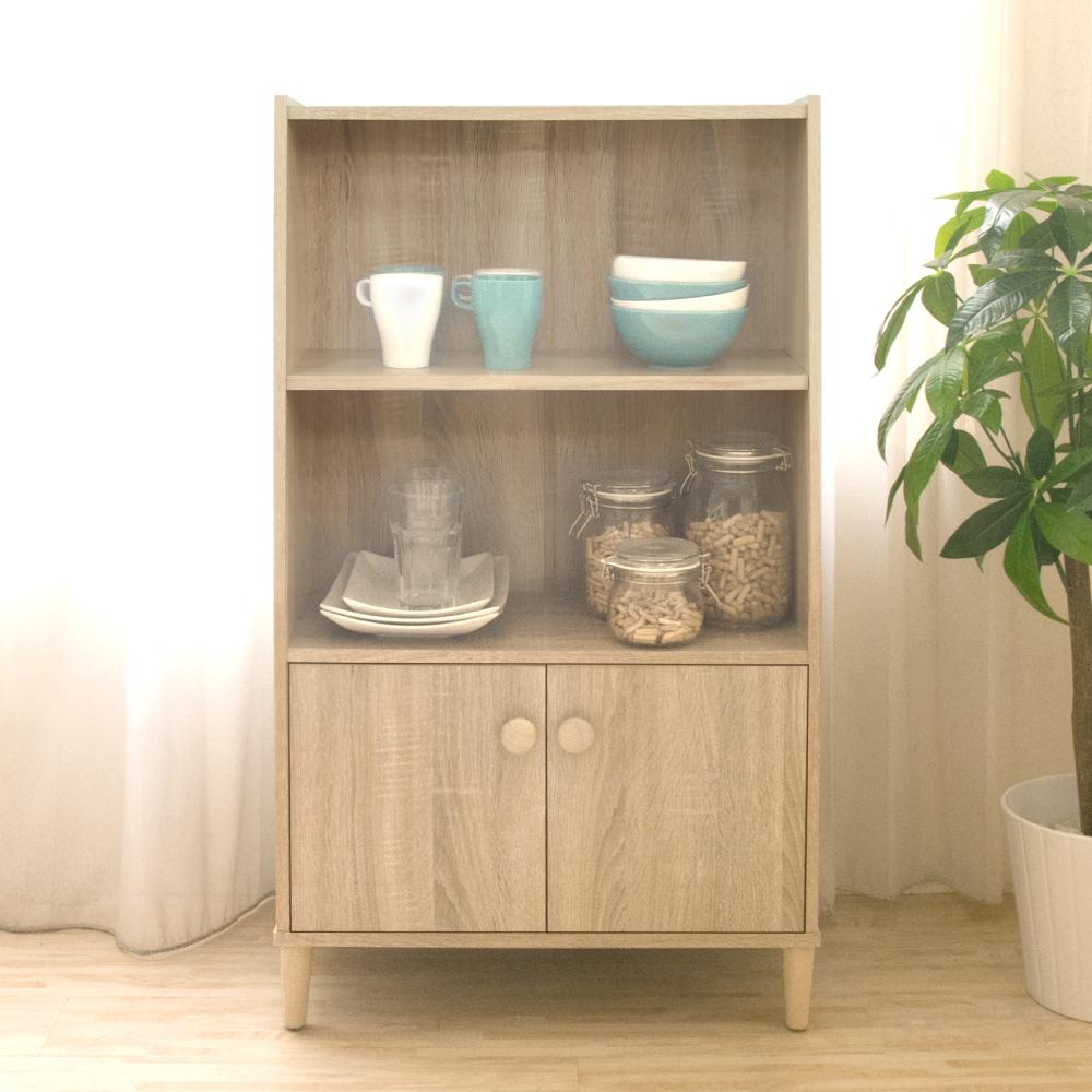 《HOPMA》DIY巧收簡約三層二門收納櫃-寬60 x深35 x高102.5cm