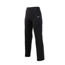 MIZUNO 女瑜珈長褲-韻律 訓練 有氧 運動長褲 美津濃 黑白