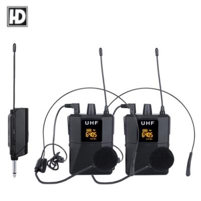 HD Audio PRO H2 無線頭戴式式麥克風1對2 可調頻率款