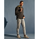 CACO-蓋袋造型格紋襯衫(二色)-男【UAR012】