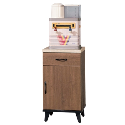 文創集 卡多隆1.5尺木製仿白石面收納櫃(二色)-44.8x43x81.4cm免組