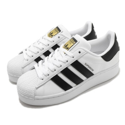 adidas 休閒鞋 Superstar Bold 女鞋 海外限定 愛迪達 三葉草 貝殼頭 皮革 白 黑 FW5771
