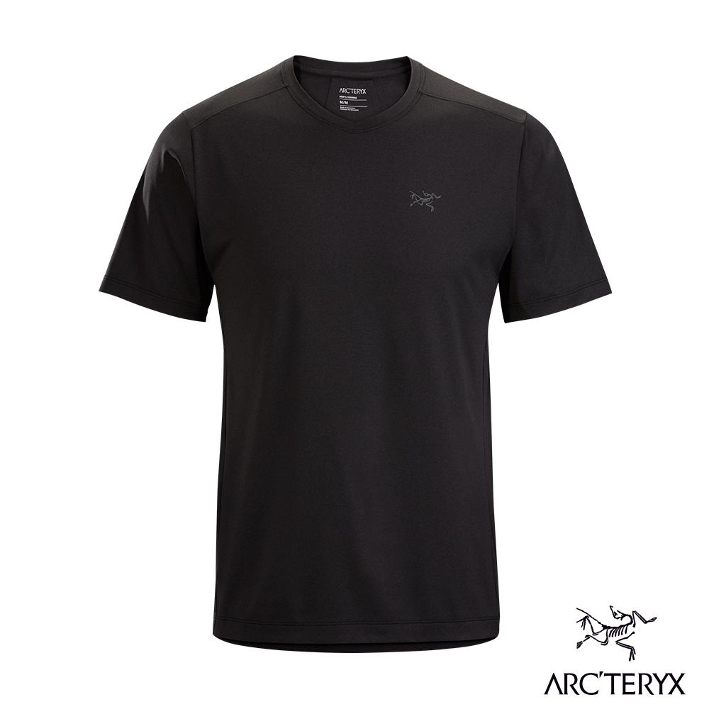 Arcteryx 始祖鳥 男 Remige 快乾 短袖 圓領衫 黑灰