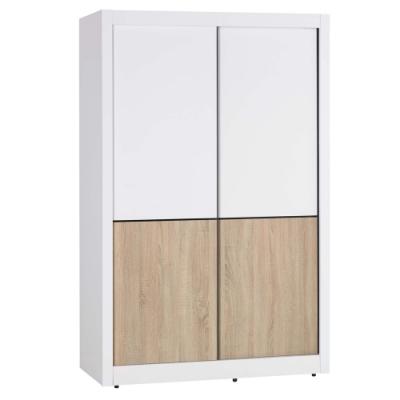 Hampton愛妮莎系列4尺推門衣櫥-126.5x61x198cm