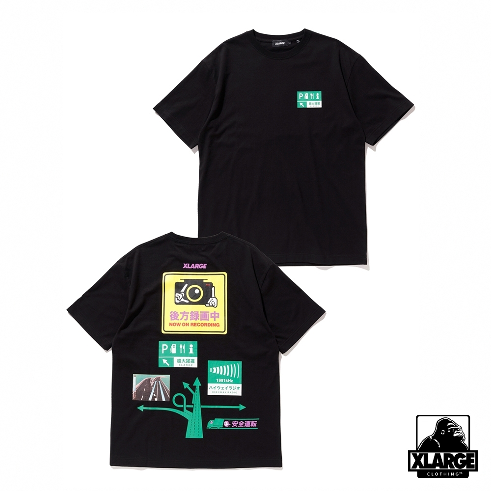 XLARGE S/S TEE SAFETY DRIVE短袖T恤-黑