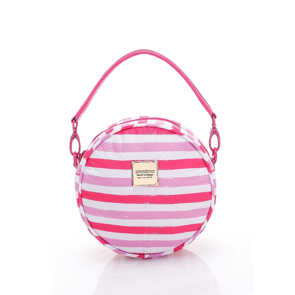 VOVAROVA空氣包-甜甜圈側背包-經典條紋(粉)