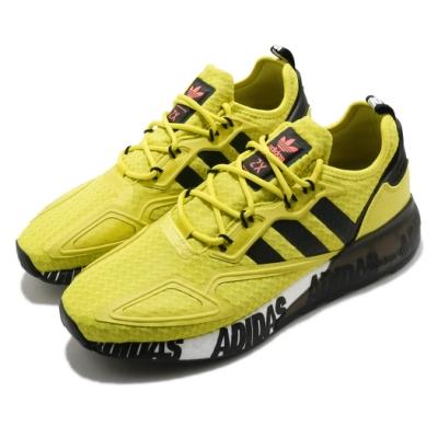 adidas 休閒鞋 ZX 2K Boost 男鞋 愛迪達 三葉草 緩震 科技感 穿搭推薦 黃 黑 FX7031