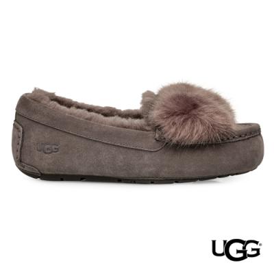 UGG女士 Ansley Puff毛毛蝴蝶結樂福鞋