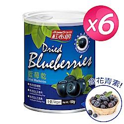 紅布朗 藍莓乾(150g/罐)x6罐