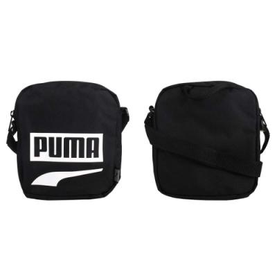 PUMA PLUS小側背包-肩背包 斜背包 單肩包 隨身包 反光 07606114 黑白