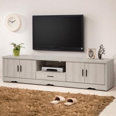 Homelike 灰橡7尺電視櫃/長櫃-212x39x51cm