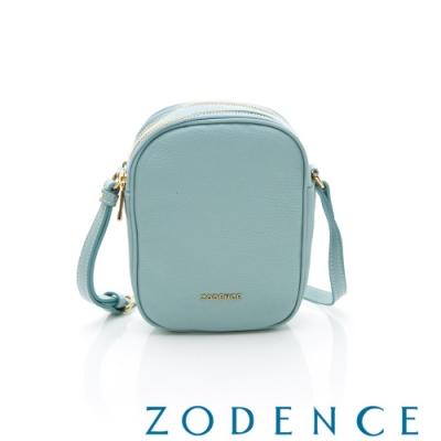 ZODENCE RELAX系列進口彩色牛皮直式皮夾包 水藍