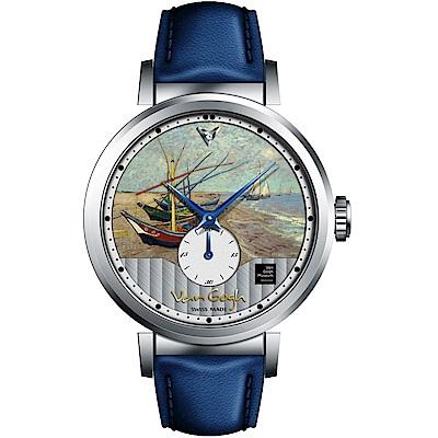 梵谷Van Gogh Swiss Watch小秒盤梵谷經典名畫女錶(C-SLLF-22)