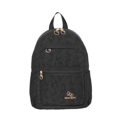 【Hello Kitty】快意之旅-後背包(中)-黑 KT01R02BK