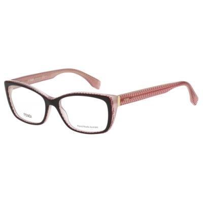 FENDI 經典LOGO 光學眼鏡(深咖啡色)FF0003
