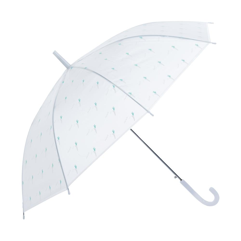 樂嫚妮 自動開直立雨傘-綠蔥