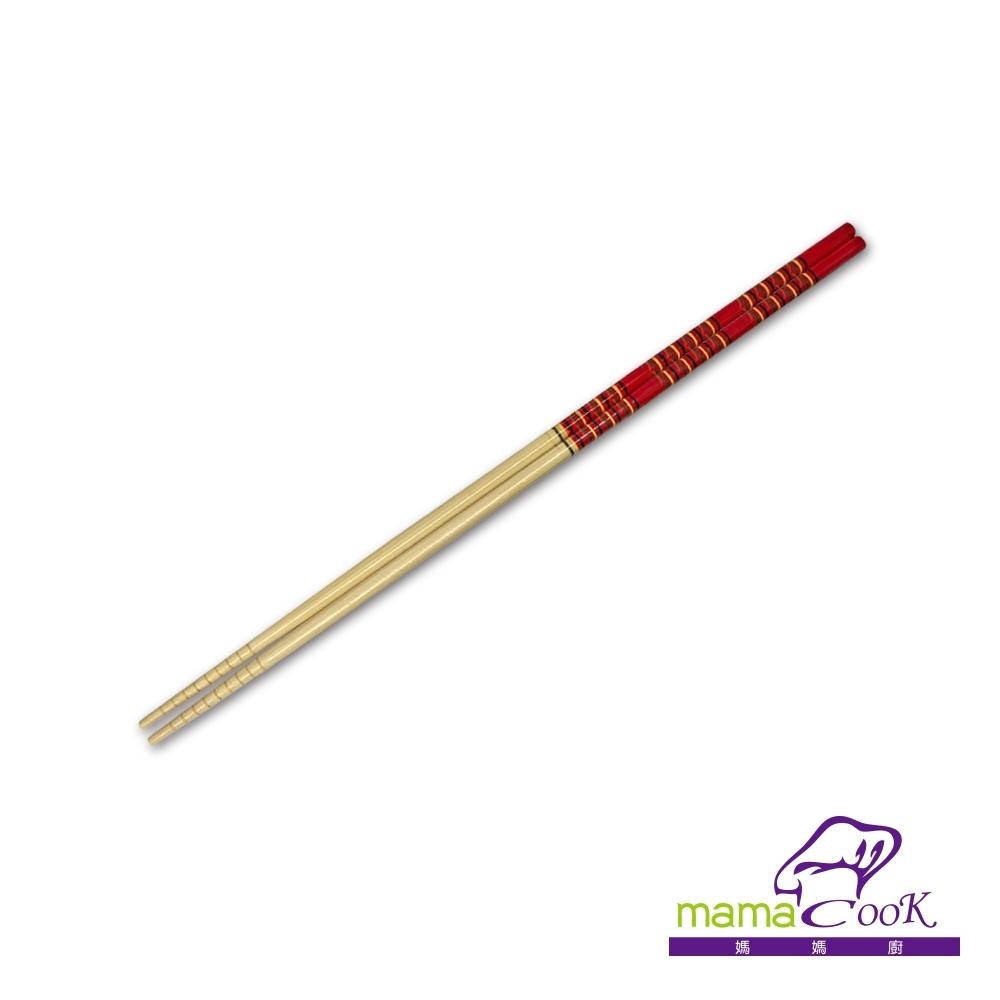 義大利MamaCook 長竹木筷子-33cm加長版料理筷
