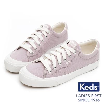 Keds CREW KICK 75 經典半月有機棉休閒鞋-淺紫