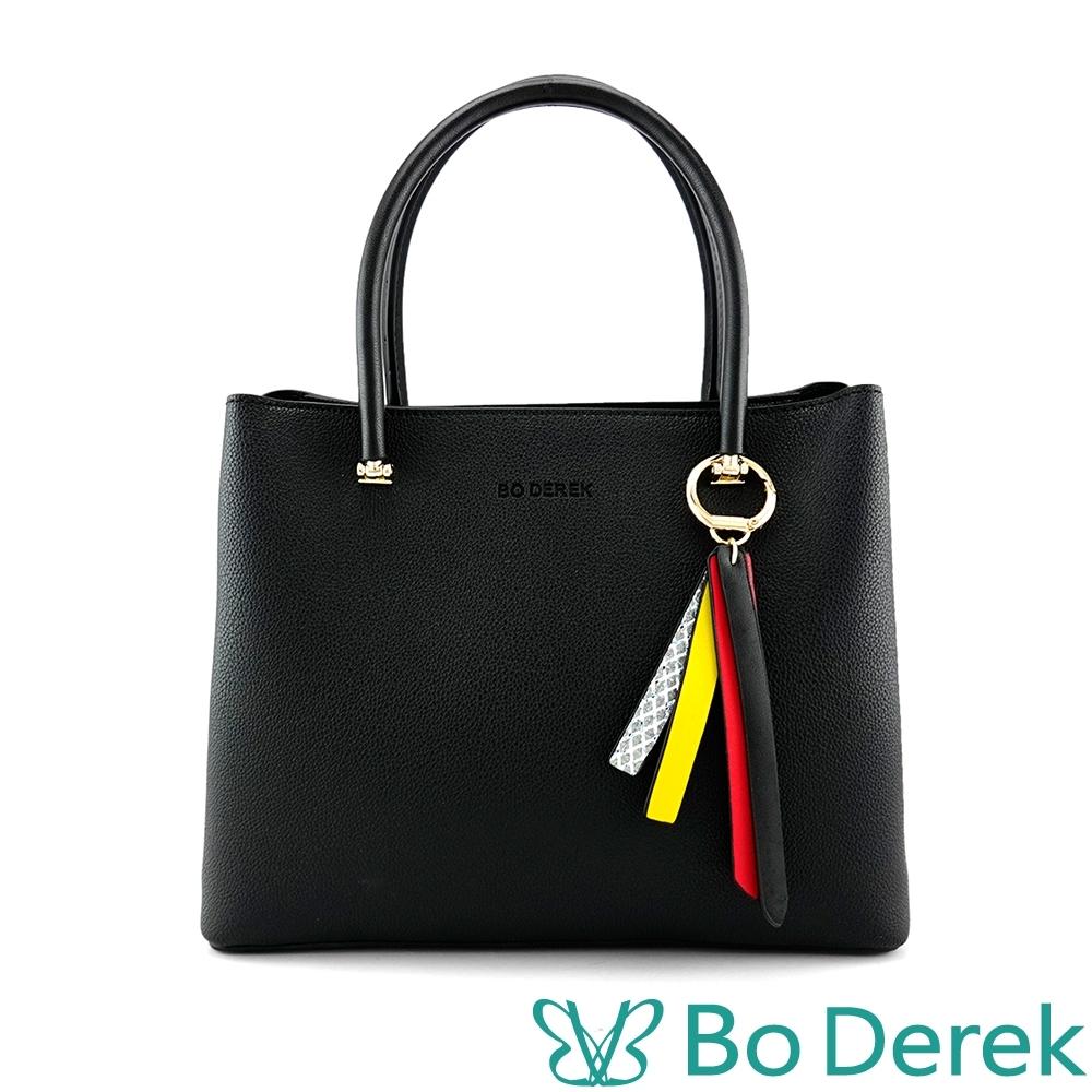 Bo derek 造型側邊手提斜背包-黑色