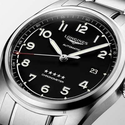 LONGINES浪琴 Spirit 先行者系列飛行員機械錶-銀x黑/40mm L38104536