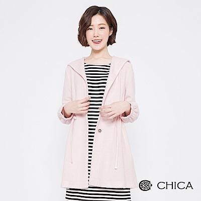 CHICA 漫遊冬日抽繩縮腰連帽外套(2色)