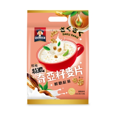 桂格 奇亞籽麥片系列-鮮奶紅茶(30gx10包)