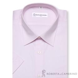 ROBERTA諾貝達 台灣製 條紋風采 短袖襯衫 粉紅