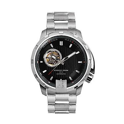 GIORGIO FEDON 永恆計時機械腕錶-黑色(GFAQ005)
