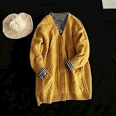 寬鬆慵懶風毛衣外套針織衫上衣-設計所在