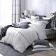 OLIVIA  Alma 白 標準雙人床包兩用被套四件組 300織天絲萊賽爾 台灣製 product thumbnail 1