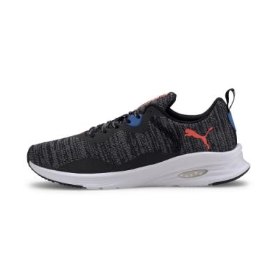 PUMA-Hybrid Fuego Knit 男性慢跑運動鞋-黑色
