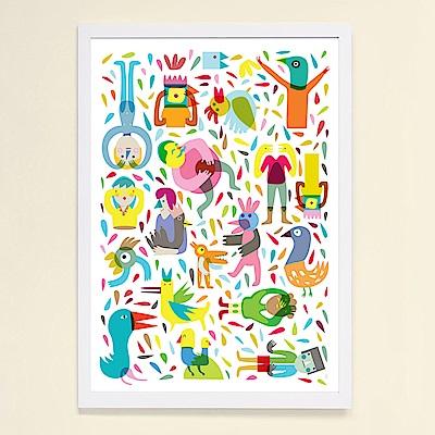 摩達客 西班牙知名插畫家Judy Kaufmann藝術掛畫-Party系列01