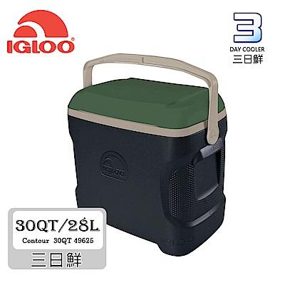 IgLoo CONTOUR系列30QT冰桶49625【深綠】