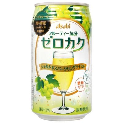 Asahi 無酒精果汁碳酸飲料-青葡萄風味 (350ml)