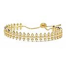 apm MONACO法國精品珠寶 閃耀金色幾何三角造型鑲鋯可調整手鍊