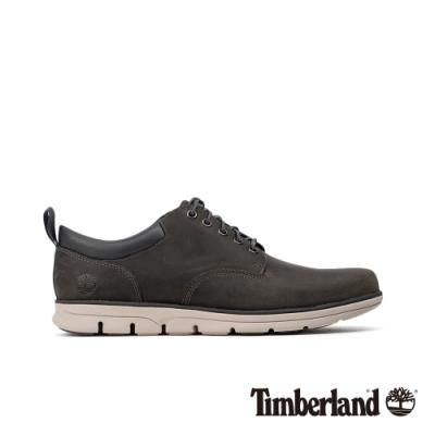 Timberland 男款中灰色全粒面皮革牛津休閒鞋|A26HZ