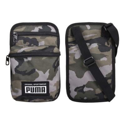 PUMA 側背小包-ACADEMY 斜背包 肩背包 隨身包 07730404 迷彩綠灰