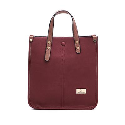 B.S.D.S冰山袋鼠-薔棘女爵x復古皮革質感兩用手提包-胭脂紅